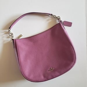 Coach Elle Pebbled Lilac Leather Hobo Bag